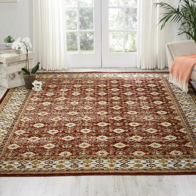 Dover Red/Orange/Green Area Rug Rug Size: Rectangle 710 x 10