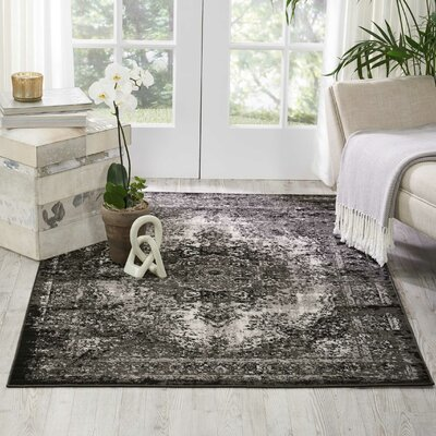 Star Black/Gray Area Rug Rug Size: Rectangle 311 x 511