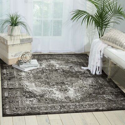 Star Black/Gray Area Rug Rug Size: Rectangle 53 x 73
