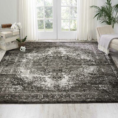 Star Black/Gray Area Rug Rug Size: Rectangle 710 x 10
