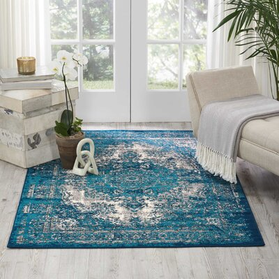 Star Blue/Gray Area Rug Rug Size: Rectangle 311 x 511