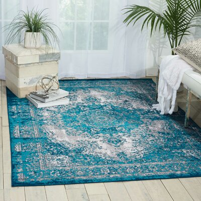 Star Blue/Gray Area Rug Rug Size: Rectangle 53 x 73