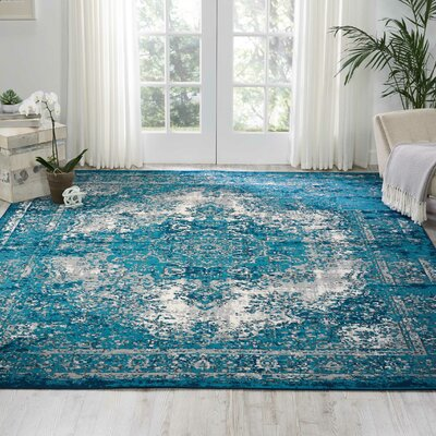 Star Blue/Gray Area Rug Rug Size: Rectangle 710 x 10