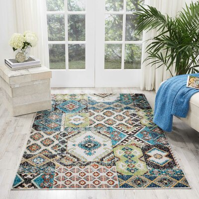 Star Colored Area Rug Rug Size: Rectangle 311 x 511
