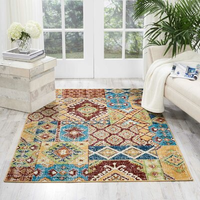 Star Red/Orange/Green Area Rug Rug Size: Rectangle 311 x 511
