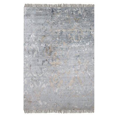 Cobbett Hand-Woven Gray Area Rug Rug Size: 9 x 12