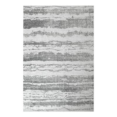 Clea Hand-Woven Gray Area Rug Rug Size: 9 x 12