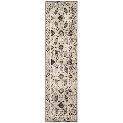 Zennia Creme / Brown Area Rug Rug Size: Runner 23 x 8