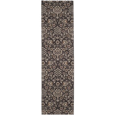 Zennia Brown & Creme Area Rug Rug Size: Runner 23 x 8