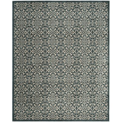 McClusky Turquoise/Cream Area Rug Rug Size: Rectangle 8 x 10