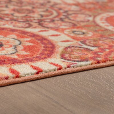 Amblewood Red/Rust Orange Area Rug Rug Size: Rectangle 8 x 10