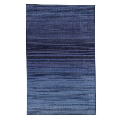 Amblewood Horizon Line Navy Area Rug Rug Size: Rectangle 9 x 10