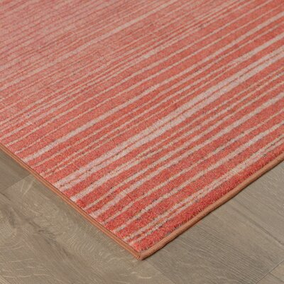 Clement Horizon Line Red/Purple Area Rug Rug Size: Rectangle 5 x 8