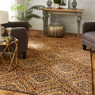 Amblewood Chocolate Area Rug Rug Size: Rectangle 5 x 8