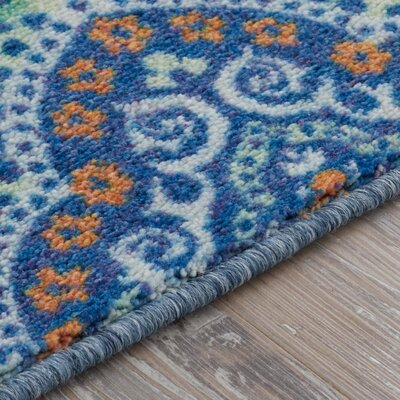 Amblewood Blue/Green Area Rug Rug Size: Rectangle 5 x 8