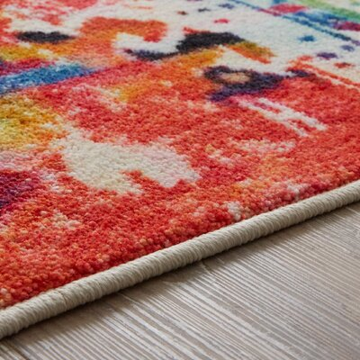 Amblewood Red/Blue Area Rug Rug Size: Rectangle 5' x 8'