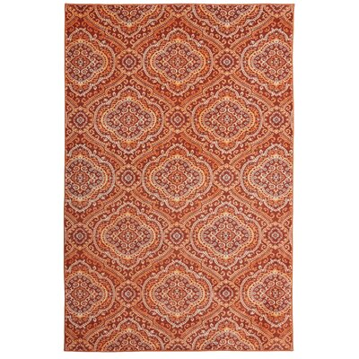 Amblewood Burnt Orange Area Rug Rug Size: Rectangle 8 x 10