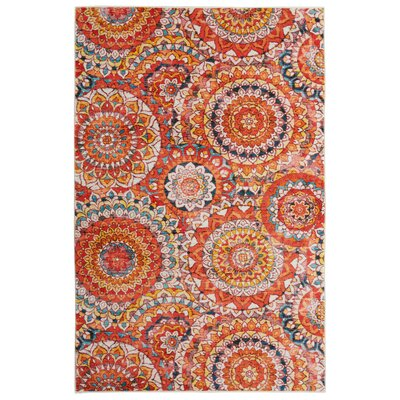 Amblewood Medallion Salsa Area Rug Rug Size: Rectangle 8 x 10