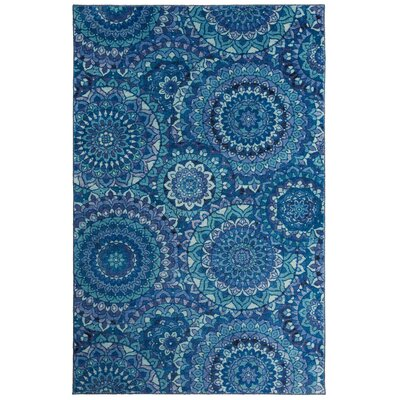 Amblewood Medallion Blue Area Rug Rug Size: Rectangle 5 x 8