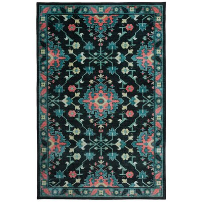 Amblewood Black/Blue/Pink Area Rug Rug Size: Rectangle 5 x 8