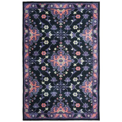 Amblewood Black/Purple/Pink Area Rug Rug Size: Rectangle 5 x 8
