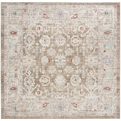 Jared Brown Area Rug Rug Size: Square 6