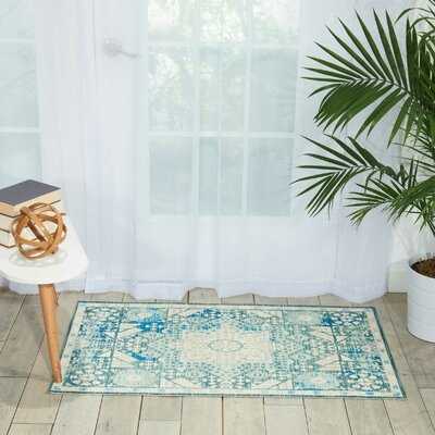 Union Point Teal Area Rug Rug Size: Rectangle 66 x 96