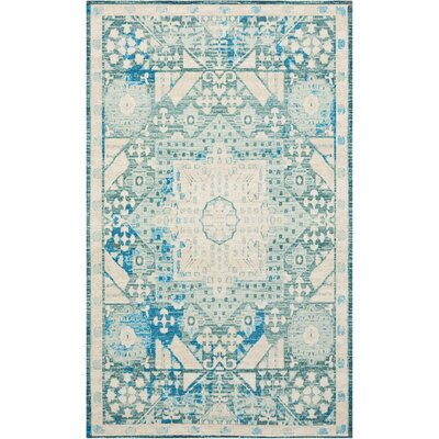 Union Point Teal Area Rug Rug Size: Rectangle 23 x 39