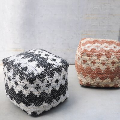 Cresley Pouf Upholstery: Beige/Brown