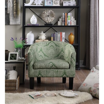 Livermore Barrel Chair Upholstery: Olive Green