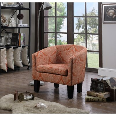 Livermore Barrel Chair Upholstery: Autumn Orange