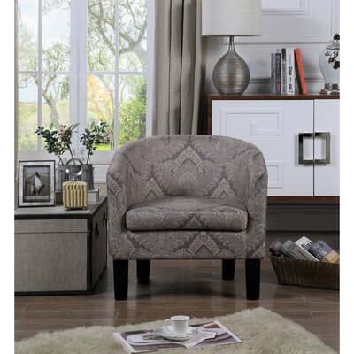 Livermore Barrel Chair Upholstery: Lilac Gray