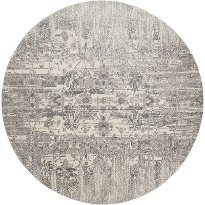 Arabelle Abstract Ivory Area Rug Rug Size: Round 8 x 8