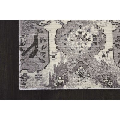 Arabelle Ivory/Gray Area Rug Rug Size: Rectangle 56 x 8