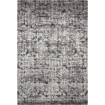 Arabelle Wool Black/Beige Area Rug Rug Size: Rectangle 56 x 8