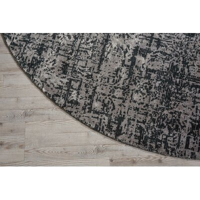 Arabelle Wool Black/Beige Area Rug Rug Size: Rectangle 99 x 139