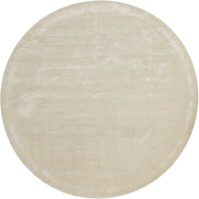 Arabelle Solid Ivory Area Rug Rug Size: Round 8