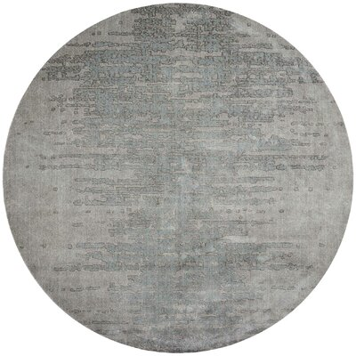 Arabelle Gray Area Rug Rug Size: Round 8