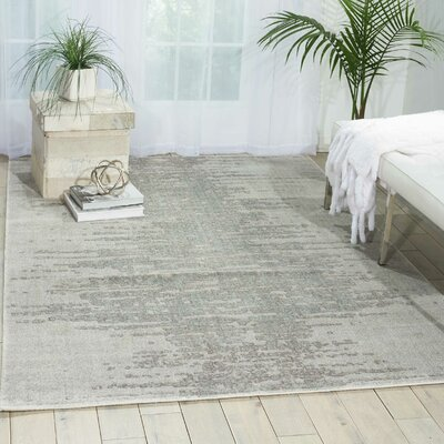 Arabelle Gray Area Rug Rug Size: Rectangle 86 x 116