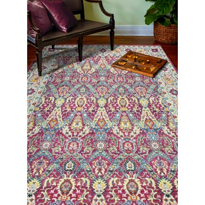 Fidela Fuchsia Area Rug Rug Size: Rectangle 5 x 76