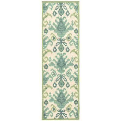 Omie Blue/Green Area Rug Rug Size: Runner 26 x 8