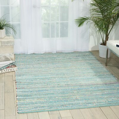 Bryce Canyon Hand-Woven Light Blue Area Rug Rug Size: Rectangle 110 x 59