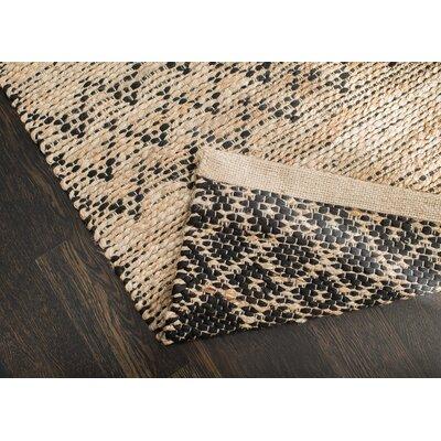 Alina Hand-Woven Black/Tan Area Rug Rug Size: 4 x 6