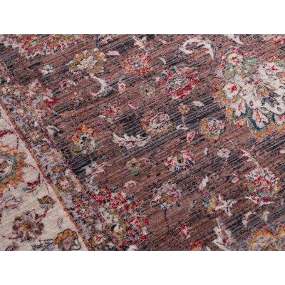 Bridgegate Modern Distressed Vintage Red/Brown Area Rug Rug Size: 53 x 77