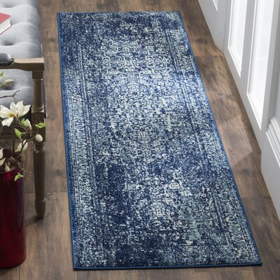 Elson Navy Area Rug Rug Size: Runner 22 x 19