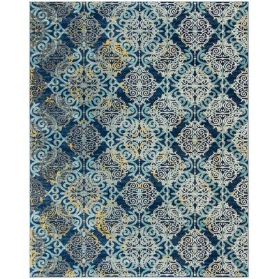 Ameesha Blue/Gray Area Rug Rug Size: Rectangle 67 x 9