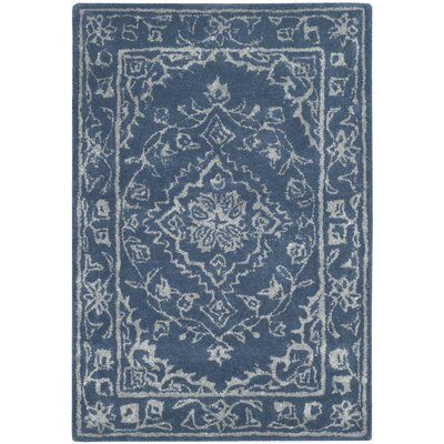Samaniego Hand-Tufted Blue Area Rug Rug Size: Rectangle 3 x 5