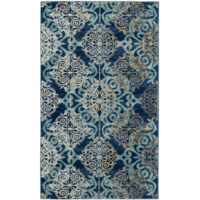 Ameesha Blue/Gray Area Rug Rug Size: Rectangle 22 x 4