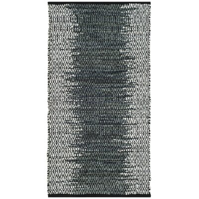 Logan Hand-Woven Light Grey/Charcoal Area Rug Rug Size: Rectangle 23 x 4