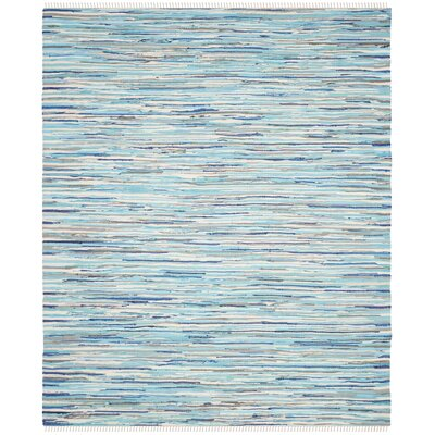 Samia Hand-Woven Blue Area Rug Rug Size: Rectangle 26 x 4